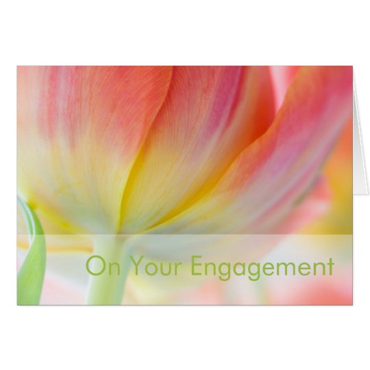 Colours of Spring • Engagement Congratulation Card