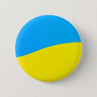 Colours of the Flag of Ukraine 6 Cm Round Badge