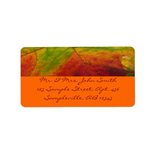 Colours of the Maple Leaf Autumn Nature Address Label