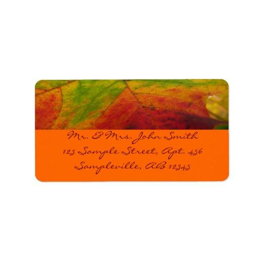 Colours of the Maple Leaf Autumn Nature Label