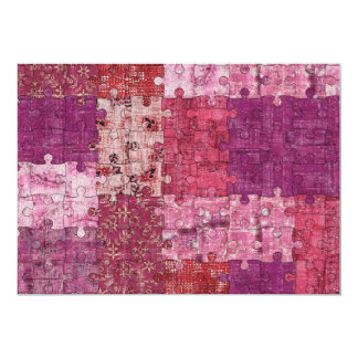 Colours Texture Puzzle Invitation
