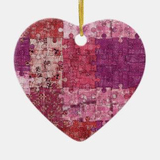 Colours Texture Puzzle Ornament