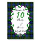 Colquhoun Celtic Wedding Table Number