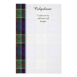 Colquhoun clan Plaid Scottish tartan 14 Cm X 21.5 Cm Flyer