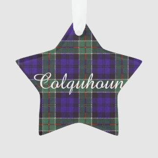 Colquhoun clan Plaid Scottish tartan Ornament