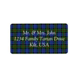 Colquhoun Tartan Label Address Label