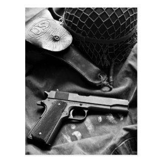 Colt 1911A1 World War Two Post Card