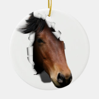 Colt Coming Out To Say Hello Double-Sided Ceramic Round Christmas Ornament
