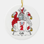 Colt Family Crest Christmas Tree Ornament