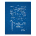 Colt Woodsman Firearm Patent - Blueprint Poster