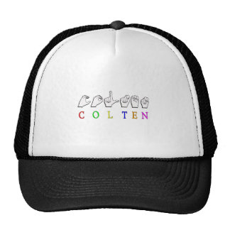 COLTEN FINGERSPELLED ASL NAME CAP