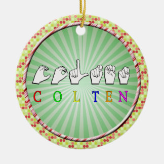 COLTEN FINGERSPELLED ASL NAME CHRISTMAS TREE ORNAMENTS