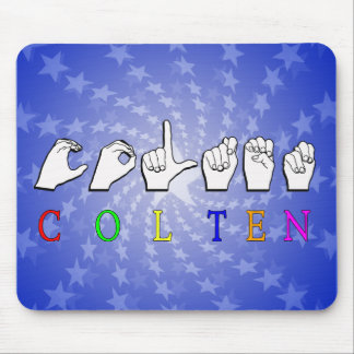COLTEN FINGERSPELLED ASL NAME MOUSE PADS