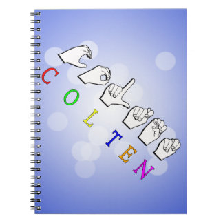 COLTEN FINGERSPELLED ASL NAME SPIRAL NOTEBOOK