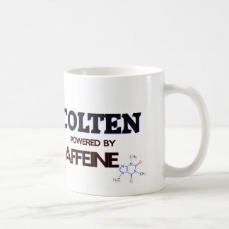 Colten powered by caffeine coffee mugs
