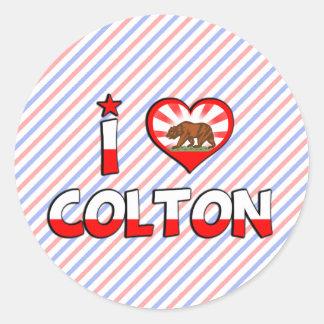 Colton, CA Round Sticker