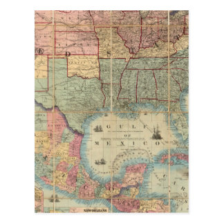 Colton s Railroad And Military Map Post Card