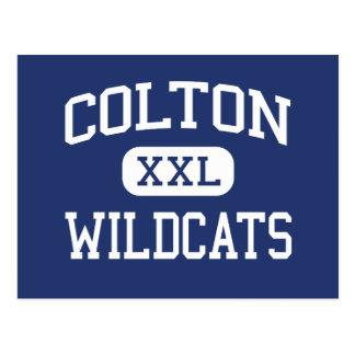 Colton - Wildcats - High - Colton Washington Postcard