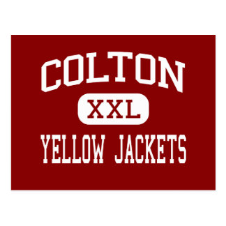 Colton - Yellow Jackets - High - Colton California Postcard