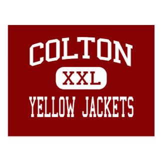 Colton - Yellow Jackets - High - Colton California Postcard