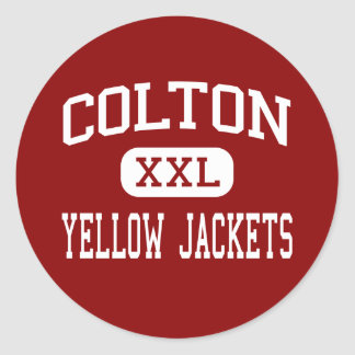 Colton - Yellow Jackets - High - Colton California Round Sticker