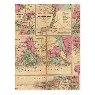 Colton's Plans of US Harbors Postcard