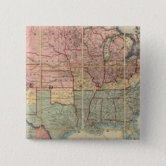 Colton's Railroad And Military Map 15 Cm Square Badge