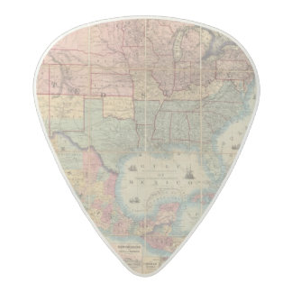 Colton's Railroad And Military Map Acetal Guitar Pick