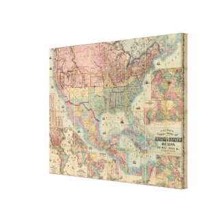 Colton's Railroad And Military Map Canvas Print