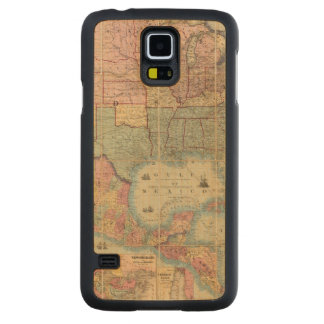 Colton's Railroad And Military Map Carved Maple Galaxy S5 Case