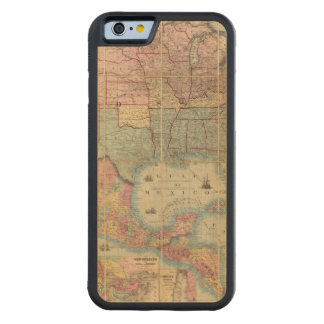 Colton's Railroad And Military Map Carved Maple iPhone 6 Bumper Case