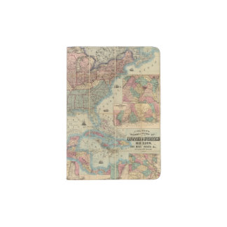 Colton's Railroad And Military Map Passport Holder