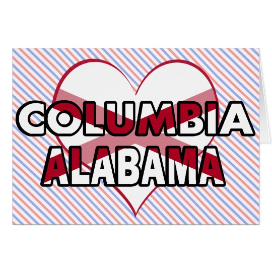 Columbia, Alabama Card