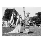 Columbia and Lady Liberty, 1919 Post Card