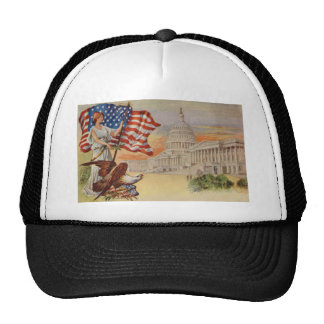 Columbia and United States Capitol Mesh Hats