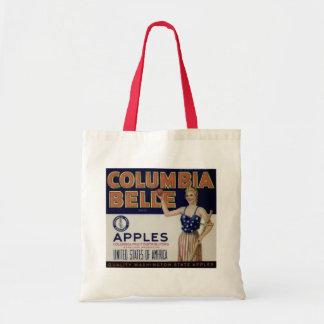 "Columbia Belle Vintage Apple Crate Label"" Tote Tote Bag"