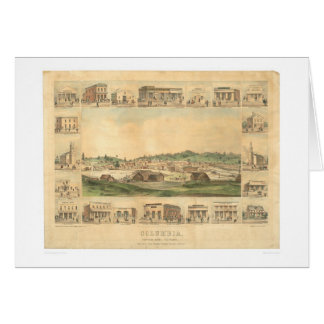 Columbia, CA. Panoramic Map 1855 (0441A) Card