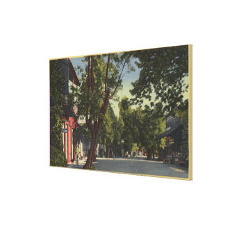 Columbia, California - Street Scene Gallery Wrapped Canvas
