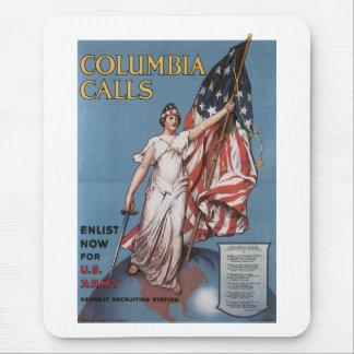 Columbia Calls World War 2 Mouse Pads