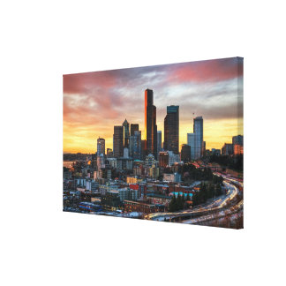 Columbia center and downtown Seattle, Seattle Canvas Print