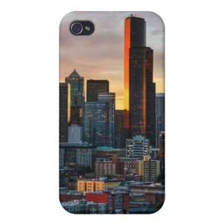 Columbia center and downtown Seattle, Seattle Cover For iPhone 4