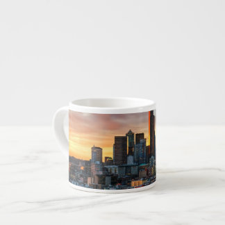 Columbia center and downtown Seattle, Seattle Espresso Cup