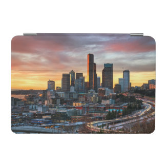 Columbia center and downtown Seattle, Seattle iPad Mini Cover