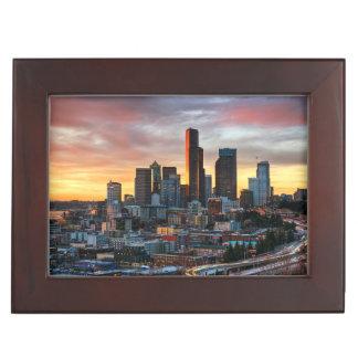 Columbia center and downtown Seattle, Seattle Keepsake Box