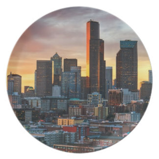 Columbia center and downtown Seattle, Seattle Plate