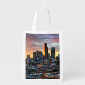 Columbia center and downtown Seattle, Seattle Reusable Grocery Bag