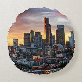 Columbia center and downtown Seattle, Seattle Round Cushion