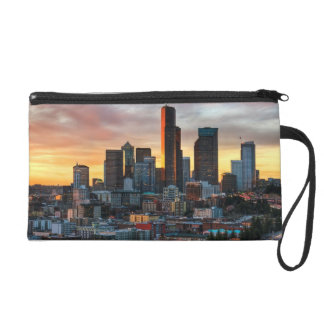 Columbia center and downtown Seattle, Seattle Wristlet Clutch
