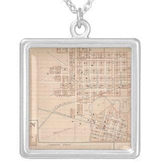 Columbia City, Whitley Co Silver Plated Necklace