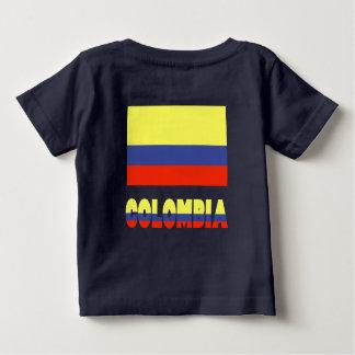 Columbia Flag and Name Baby T-Shirt
